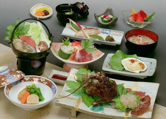 Sankai : 伊豆の海で獲れた食材満載のお夕食