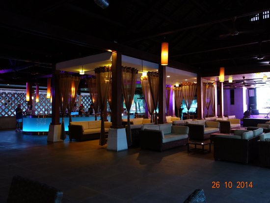 Club Med Cherating Beach: Decorations for the night theme party