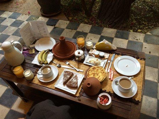 Riad Malika: colazione