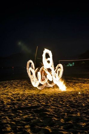 Activities during the night... such as fire dance and Kava ceremony