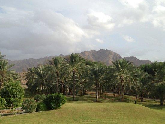 JA Hatta Fort Hotel : La vue de la piscine