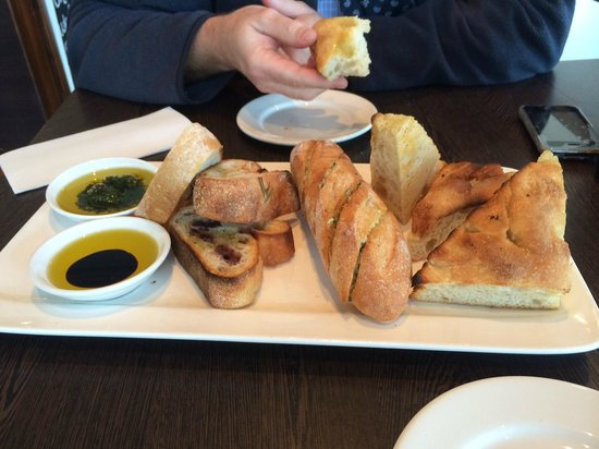 Sailors' Rest: A fine Trio of breads - starter for two.