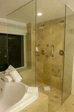 Le Blanc Spa Resort: Shower next to jacuzzi with beahc view