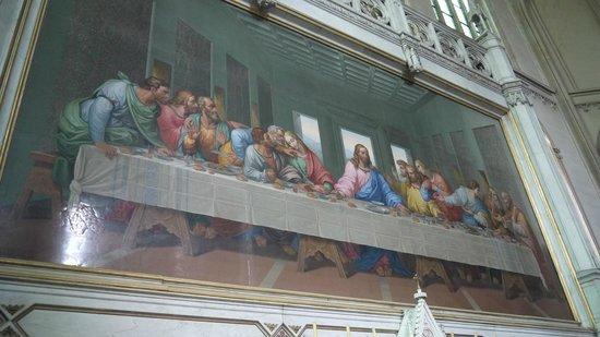 Minoritenkirche : Тайная вечеря (Точная мозаичная копия фрески работы Да Винчи)