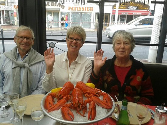 Le Touring in Saint Raphael Lobsterlunch in November 2014