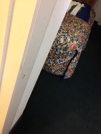 Travelodge Alachua: Bathroom door jam