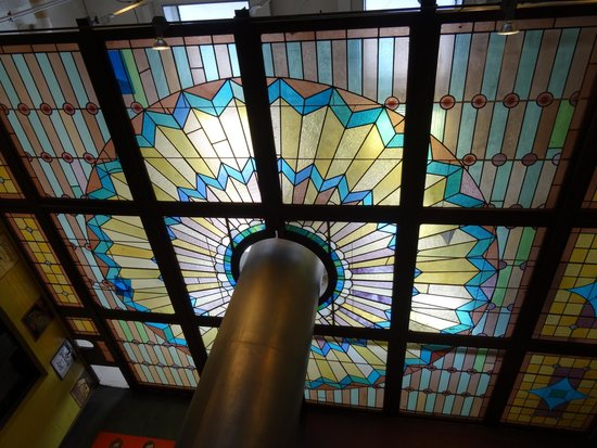 D.G. Yuengling and Son Brewery: stained glass ceiling