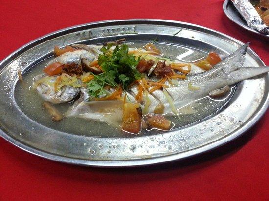 Sea terrace: Steam fish