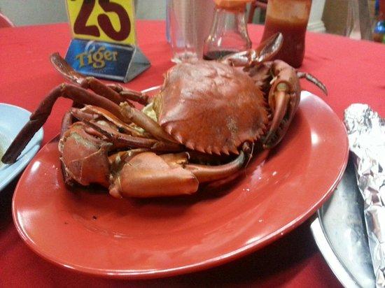 Sea terrace: Baked salt crab