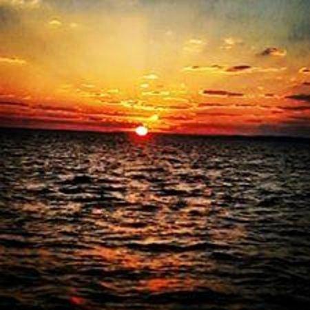 Al-Fayoum Oasis : sunset in lake karoun