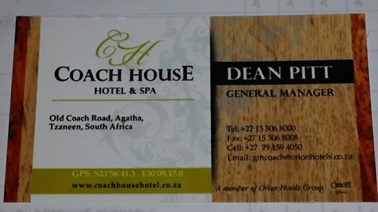 Coach House Hotel & Spa: The General Manager