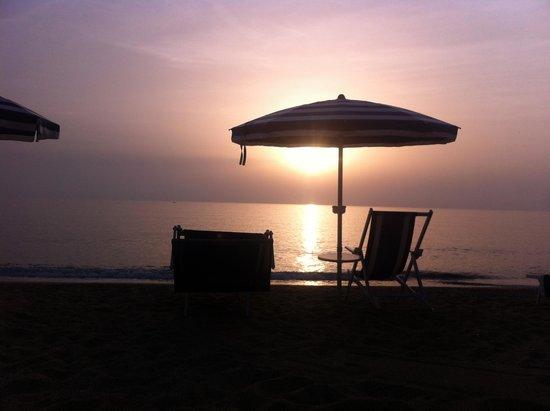 Hotel Poseidon : Tramonto a fine settembre 2014 dal Poseidon