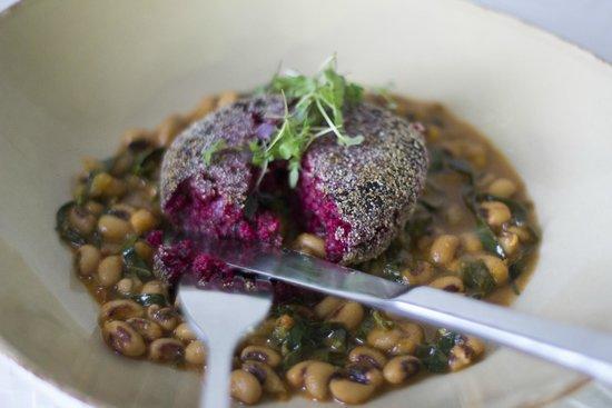 Chauhan Ale and Masala House: Beet Cauliflower Croquette