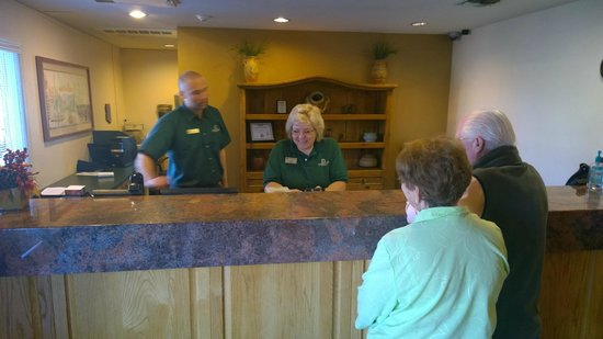 Windmill Suites in Surprise: Steve and Gina helping customers