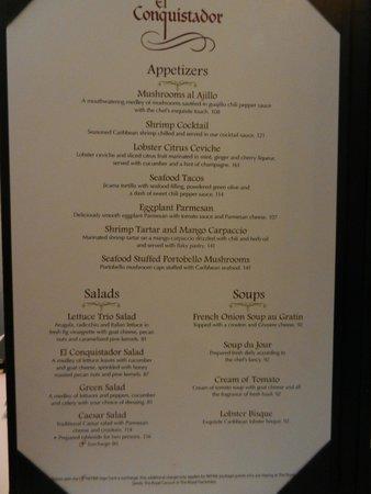 El Conquistador Restaurant Menu