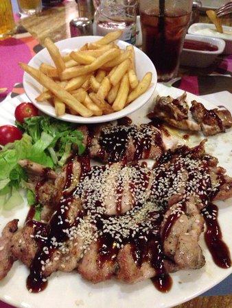 Nafis: Вот такая немаленькая порция курица в соусе тери яки)