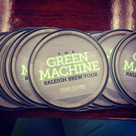 Grand touring transportation green machine raleigh brew tour custom stickers