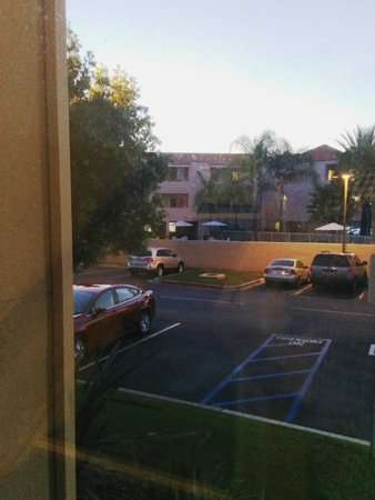 Courtyard Los Angeles Hacienda Heights/Orange County: View of parking area from front staircase & secured outside entry