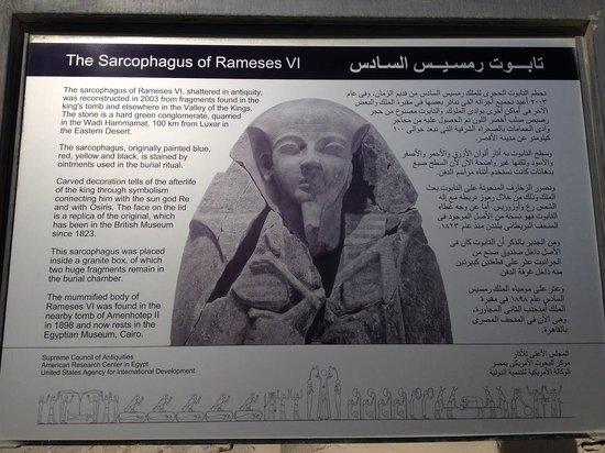 Tomb of Ramses VI: Mural Tumba Ramsés VI