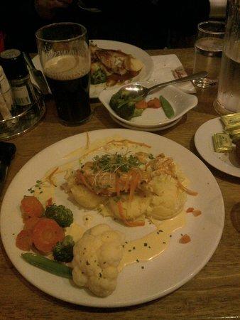 Lohans: salmon dinner