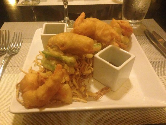 Tempura Shrimp Veg With Noodles Kyoto Restaurant Picture Of There Eating At Riu Palace Pacifico