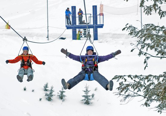 Schweitzer Mountain Resort Lodging: Zipline