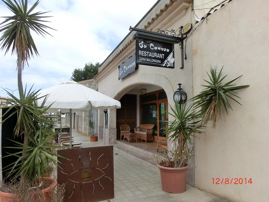 Sa Canova Restaurant: Вход в ресторан