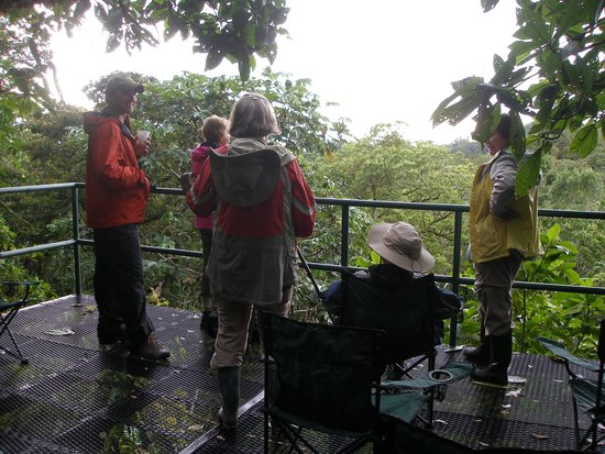 Volcan, Panama: Visitors at the Canopy Tower