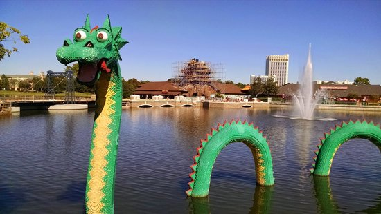 Outside Lego Store, Downtown Disney - Picture of Disney Springs ...