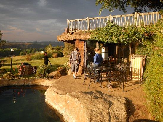 Inkunzi Cave & Zulu Hut: The Cave at sunset