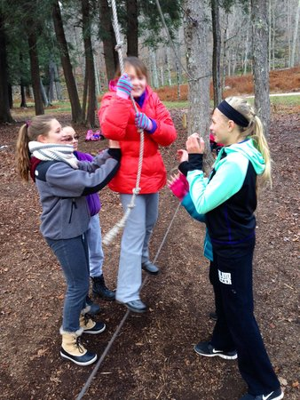 Claryville, estado de Nueva York: Low Ropes Challenge
