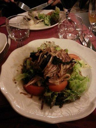 Le Bougnat : salade d'oreille de cochon