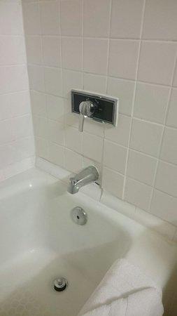 Hotel Somerset-Bridgewater: Shower /Tub falling apart.