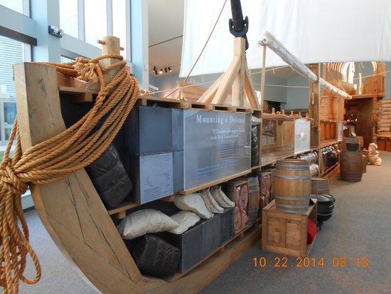 Lewis & Clark State Historic Site &  Interpretive Center: Cut away view of the keel boat