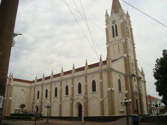 Sao Joao Da Boa Vista, SP: Vista lateral da Igreja Catedral São João Batista