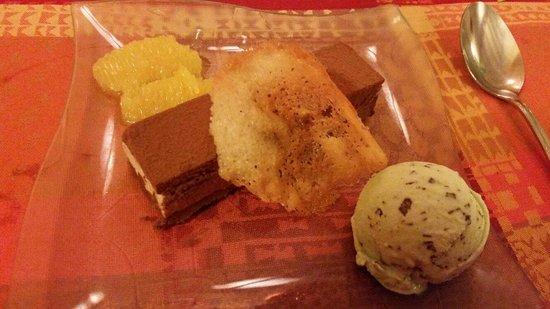 Le relais d'Antan : Dessert au chocolat.