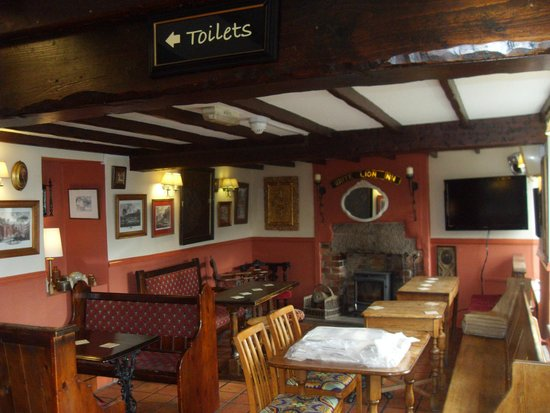 White Lion Inn: the bar gets a new look for winter 2014