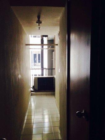 Puri Casablanca Serviced Apartment: Aisle to service area, behind kitchen