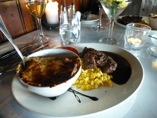 Steakers: Excellent steak and scalloped potatoes