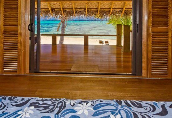 Etu Moana: View from the bed in Absolute Beachfront Villas