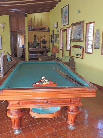 Casa Los Cerros: Mesa de billar pool