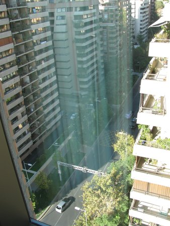 Holiday Inn Express Santiago Las Condes: vista da janela do hotel