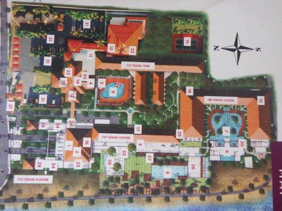 Grand Inna Kuta : Plan of hotel and grounds