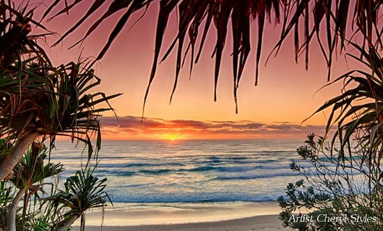 Tallow Beach Houses : Sunrise at Tallow Beach