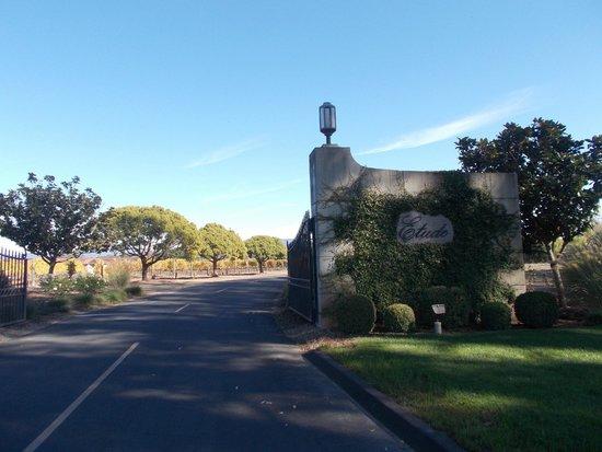 Etude Winery: Entrance & Driveway