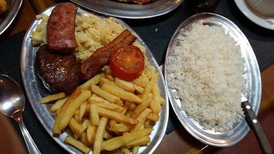 Restaurante Olivinho: Filé a Gaucha para uma pessoa.
