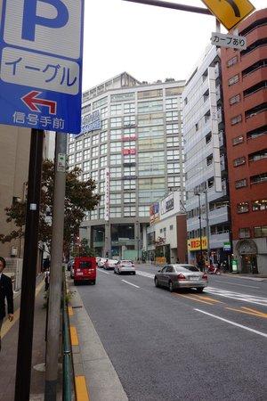 Apartment Hotel Shinjuku: takasimaya 2 mins walk from shinjuku samchome train station. taken outside station