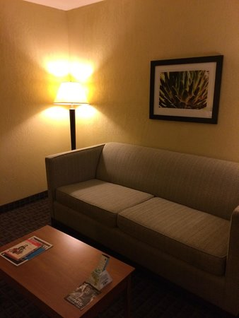 BEST WESTERN PLUS Scottsdale Thunderbird Suites: Living area with hide-a-bed couch
