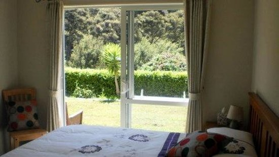 Little Forest Bed & Breakfast: View across bedroom to forest