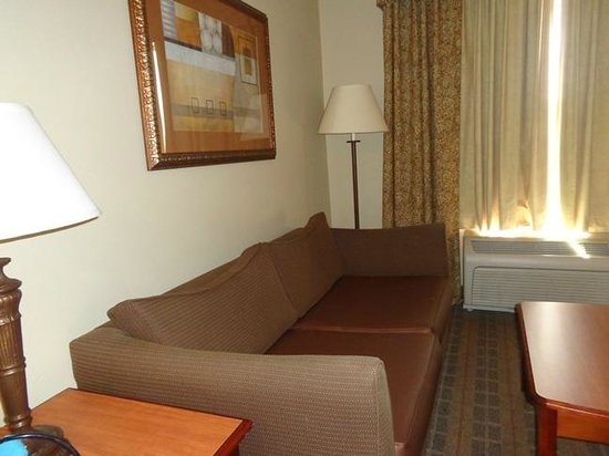 Hampton Inn & Suites Schertz: couch in room